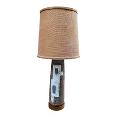 Zaalberg Dutch Pottery Abstract Design Lamp