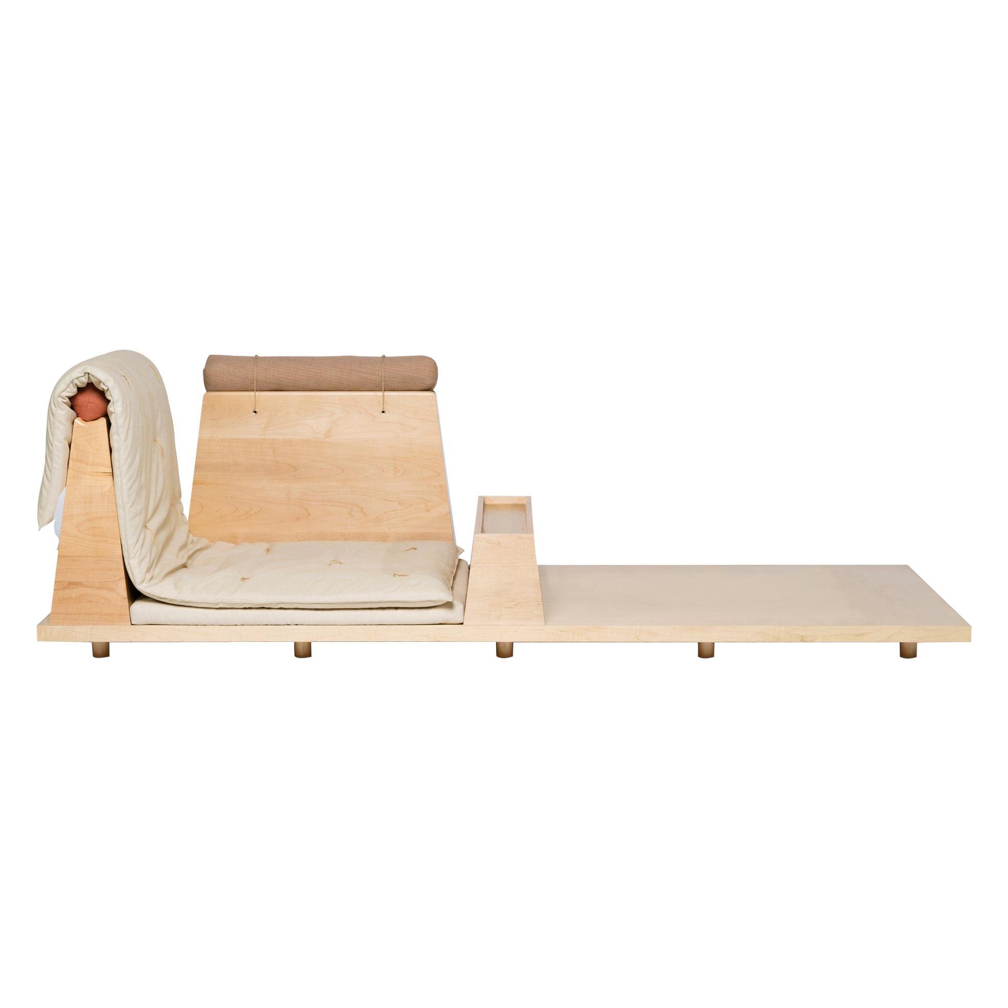 Zabuton Sofa, Handmade Japanese Futon on Modular Maple Frame, Kvadrat