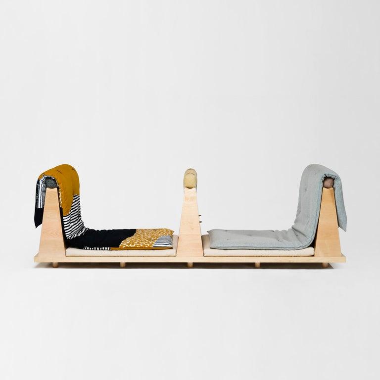 Zabuton Sofa, Handmade Japanese Futon on Modular Maple Frame, Kvadrat, Sou Sou For Sale 6