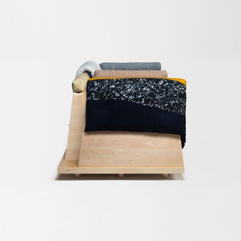 Zabuton Sofa, Handmade Japanese Futon on Modular Maple Frame, Kvadrat, Sou Sou For Sale 9