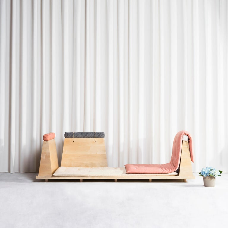 Zabuton Sofa, Handmade Japanese Futon on Modular Maple Frame, Kvadrat, Sou Sou For Sale 11