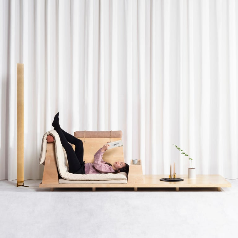 Zabuton Sofa, Handmade Japanese Futon on Modular Maple Frame, Kvadrat, Sou Sou For Sale 13
