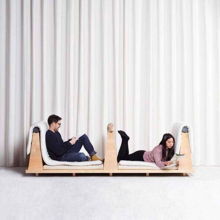 Zabuton Sofa, Handmade Japanese Futon on Modular Maple Frame, Kvadrat, Sou Sou For Sale 14