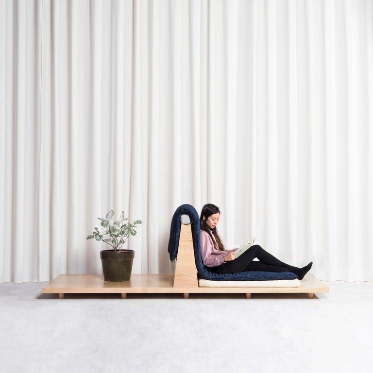 Zabuton Sofa, Handmade Japanese Futon on Modular Maple Frame, Kvadrat, Sou Sou For Sale 15
