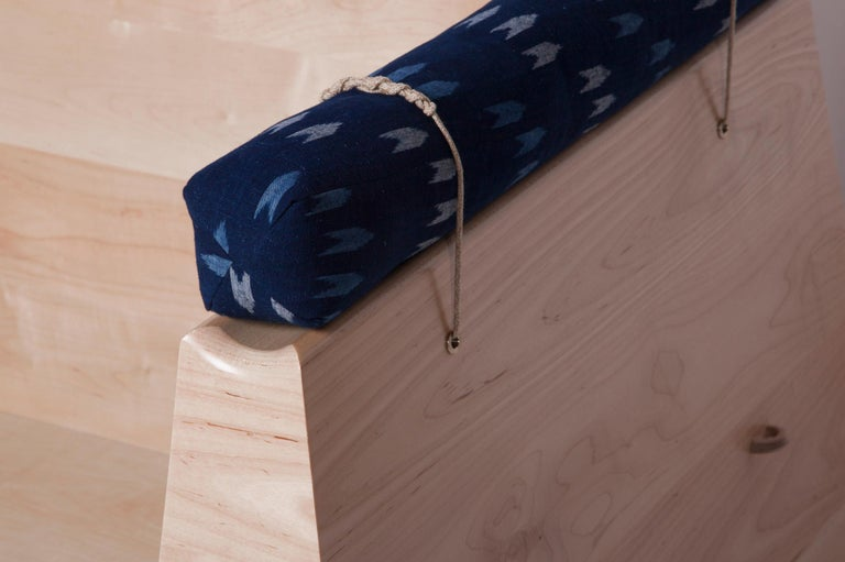 Zabuton Sofa, Handmade Japanese Futon on Modular Maple Frame, Kvadrat, Sou Sou For Sale 1