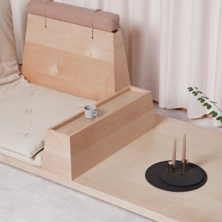 Zabuton Sofa, Handmade Japanese Futon on Modular Maple Frame, Kvadrat, Sou Sou For Sale 2