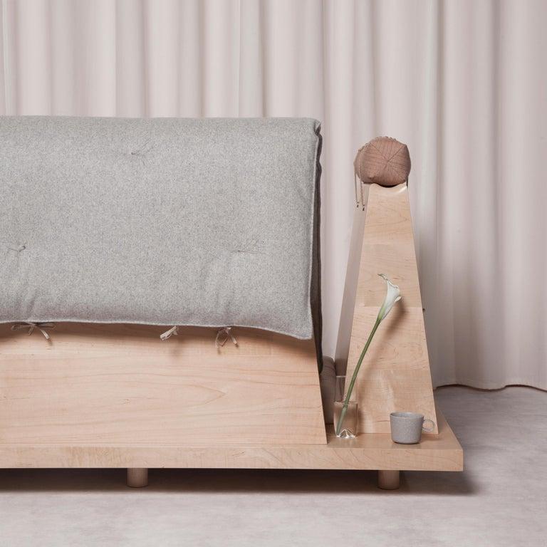 Zabuton Sofa, Handmade Japanese Futon on Modular Maple Frame, Kvadrat, Sou Sou For Sale 3