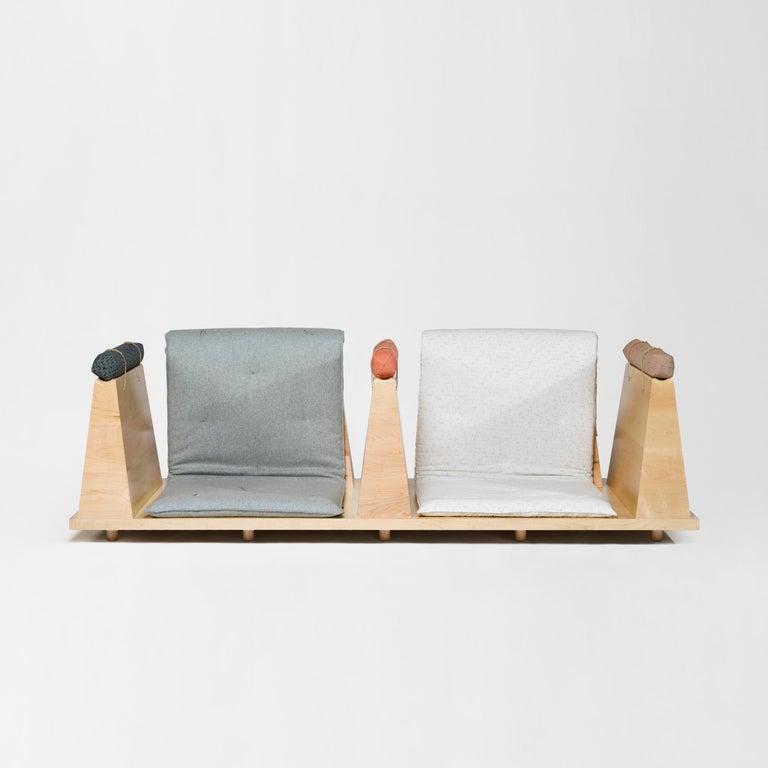 Zabuton Sofa, Handmade Japanese Futon on Modular Maple Frame, Kvadrat, Sou Sou For Sale 4