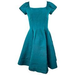 Zac Posen Green Mini Dress Size 6