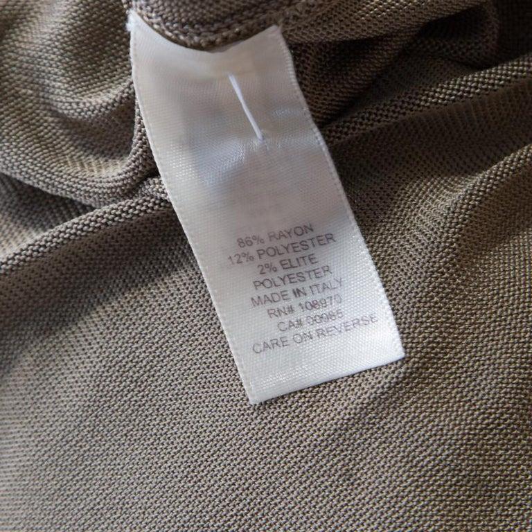 Zac Posen Metallic Peforated Knit Fit and Flare Sleeveless Dress M 1