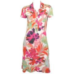 Zac Posen Mr. Pibb Tie-Dye Print Dress