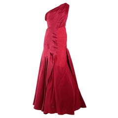 Zac Posen One Shoulder Ball Gown