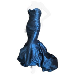 Zac Posen Outstanding Silk Mermaid Evening Gown New with Tags