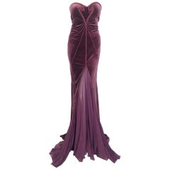 Zac Posen velvet & chiffon gown