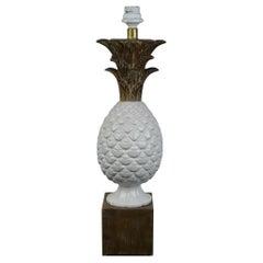 Zaccagnini Ceramic Pineapple Table Lamp, Italy, 1960s
