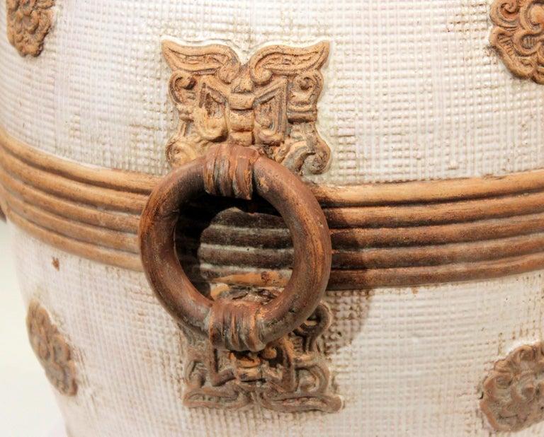 Zaccagnini Italian Pottery Garden Seat Stool Ming Style