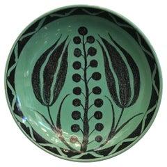 Zaccagnini Wall Plate/Centerpiece Ceramic, 1950, Italy
