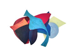 GS02, Geometric Abstract Multicolor 3D Wall Sculpture