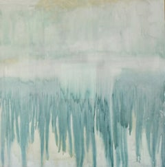 Rock Island, Blue and Sandy Abstract Expressionism Painting