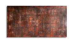 Red Abstract Expressionism Wide Horizontal Painting
