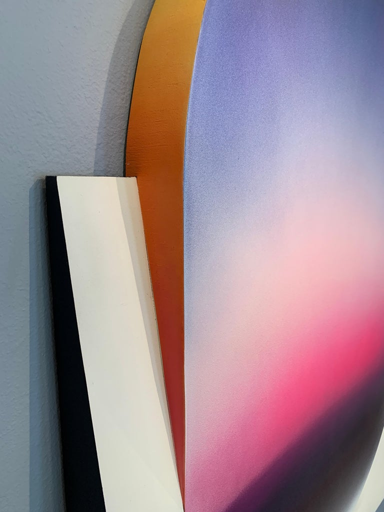 Color Fade (Form & Flow Series), by Zack Smithey Abstract Oil Enamel Board White 1