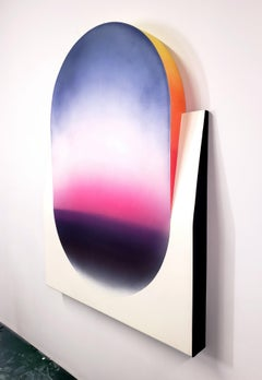 Color Fade (Form & Flow Series), by Zack Smithey Abstract Oil Enamel Board White