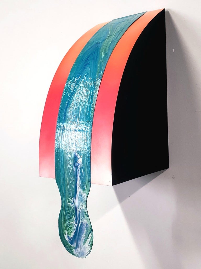 Drip  (Form & Flow Series), by Zack Smithey Abstract Oil Enamel Sculpture Liquid  From Zack Smithey:  I allow ideas to evolve and intertwine.  And with each iteration the artwork slowly morphs, as the DNA from each body of work passes on