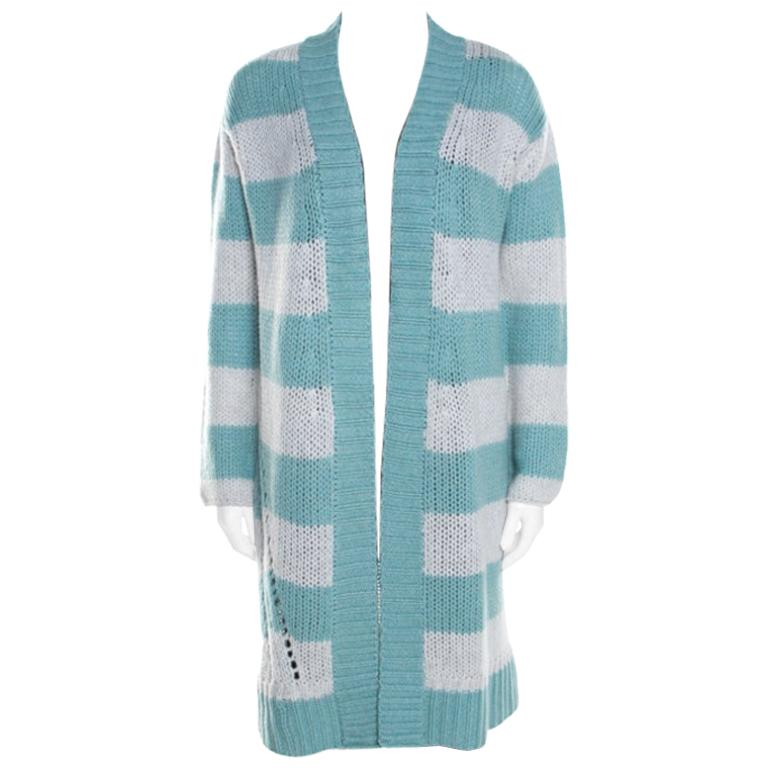 Zadig and Voltaire Bicolor Striped Cashmere Romy Raye Deluxe Cardigan XS For Sale