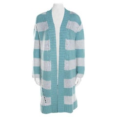 Zadig and Voltaire Deluxe Bicolor Striped Cashmere Romy Raye Long Cardigan XS