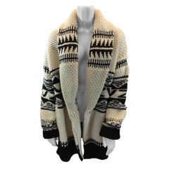 Zadig & Voltaire Black and White Print Cardigan