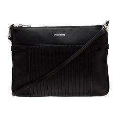 Zadig & Voltaire Black Leather Panglo Crossbody Bag