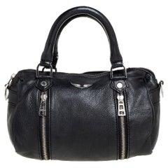 Zadig & Voltaire Black Leather Sunny Satchel