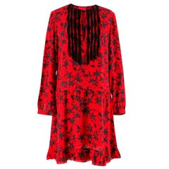 Zadig & Voltaire Red Floral Print Remus Dress Size S