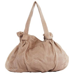 ZAGLIANI brown scaled leather rusched dumpling large shoulder hobo bag