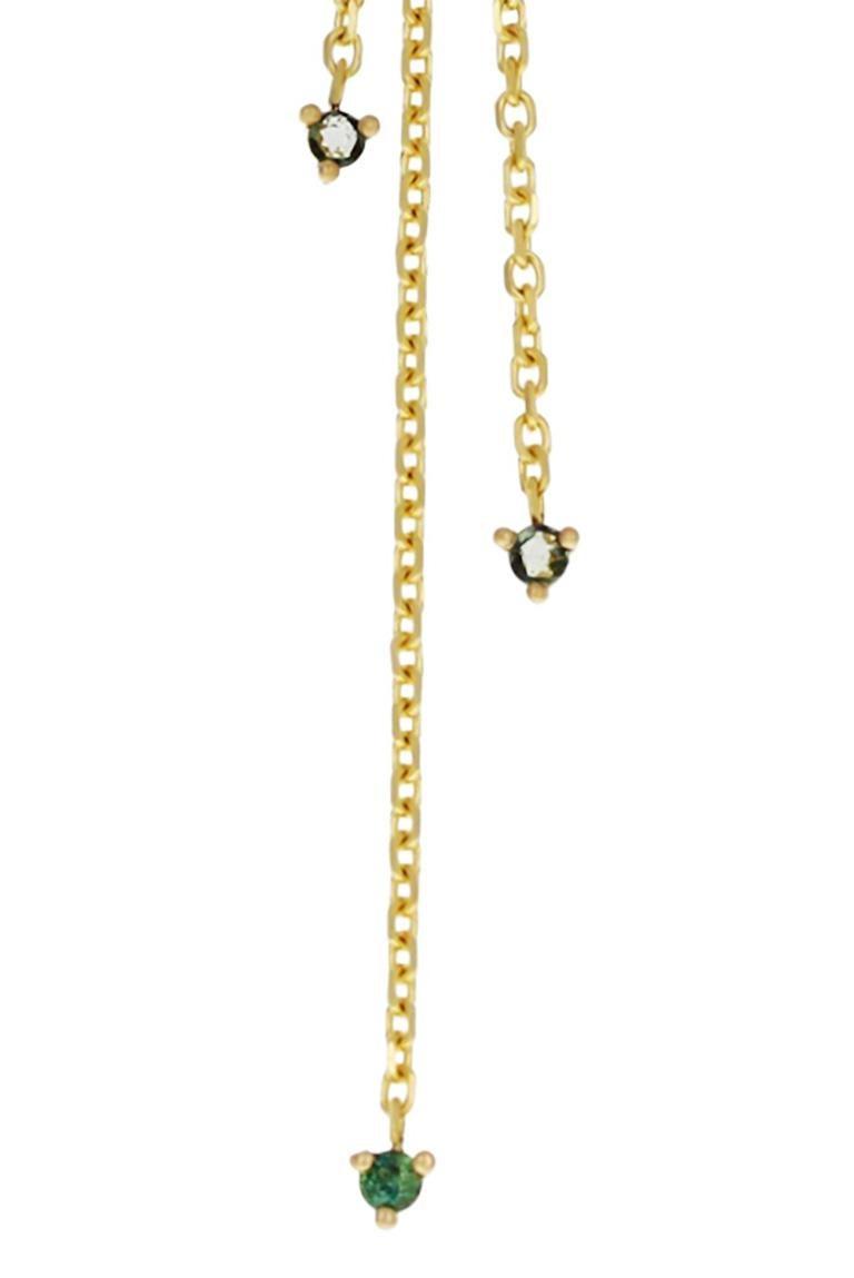 Contemporary Zahra 18 Karat Yellow Gold Rose-Cut Tourmaline Necklace For Sale