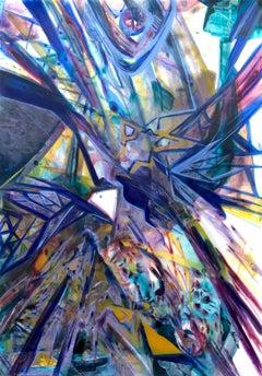 Dance of Colors, architectural abstract based on La Sagrada Familia