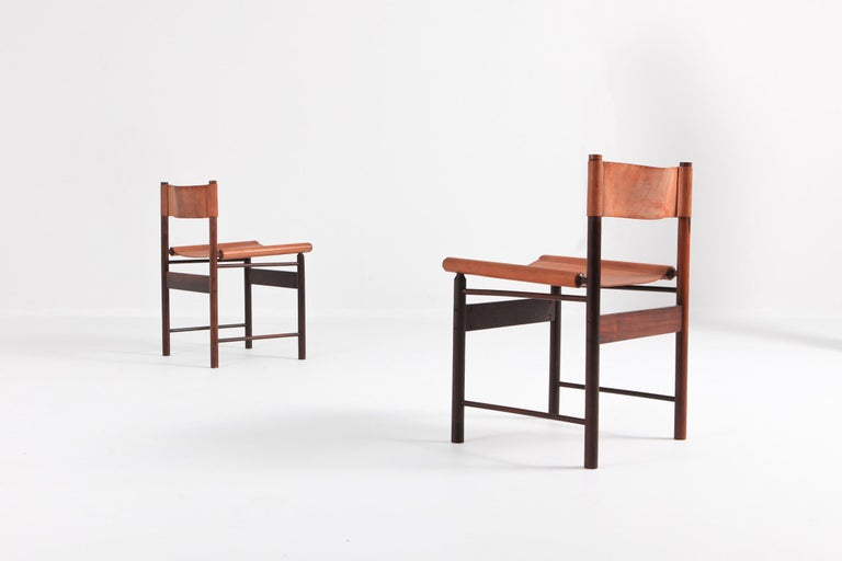 L'atelier Brazil set of six dining chairs by Jorge Zalszupin (°Warsaw, 1922).