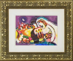 "Signed L.E. Zammy Steynovitz Artist Embellished Serigraph ""Romantic Nights"""
