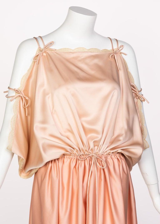 Zandra Rhodes Field of Lilies Maxi Caftan Dress, 1970s For Sale 1