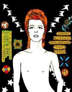David Bowie Rebel Rebel in Black