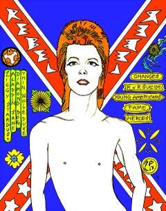David Bowie Rebel Rebel in Blue
