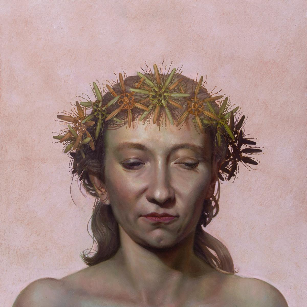 Portrait with Wreath Arrangement
