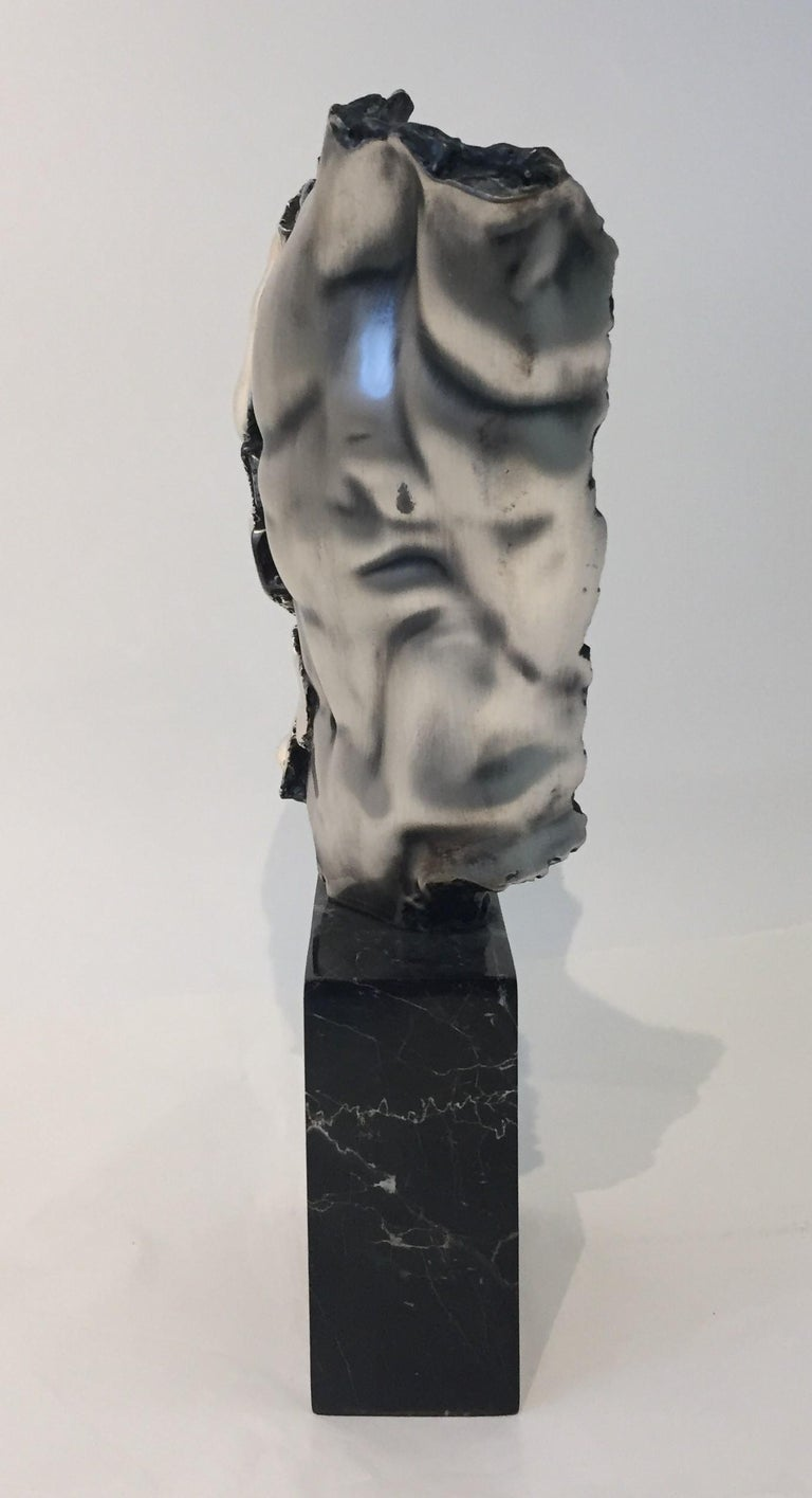 Plated Male Torso Sculpture For Sale