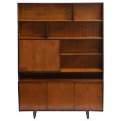 Zanine Caldas Midcentury Brazilian Boobkcase with Plywood Structure, 1950s