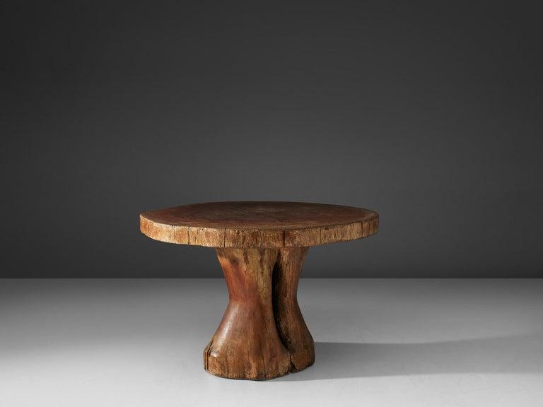 Mid-Century Modern Zanine Caldas Round 'Denuncia' Dining Table in Brazilian Hardwood For Sale