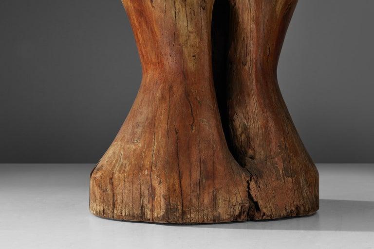 Zanine Caldas Round 'Denuncia' Dining Table in Brazilian Hardwood In Good Condition For Sale In Waalwijk, NL