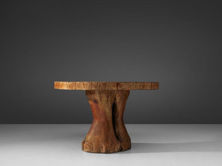 Late 20th Century Zanine Caldas Round 'Denuncia' Dining Table in Brazilian Hardwood For Sale