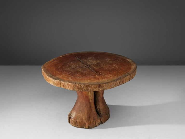 Zanine Caldas Round 'Denuncia' Dining Table in Brazilian Hardwood For Sale 2