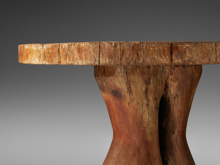 Zanine Caldas Round 'Denuncia' Dining Table in Brazilian Hardwood For Sale 4