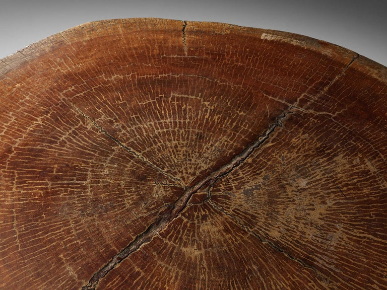 Zanine Caldas Round 'Denuncia' Dining Table in Brazilian Hardwood For Sale 5
